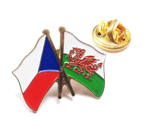 Wales / Czech Republic Friendship Pin Badge [wb207]