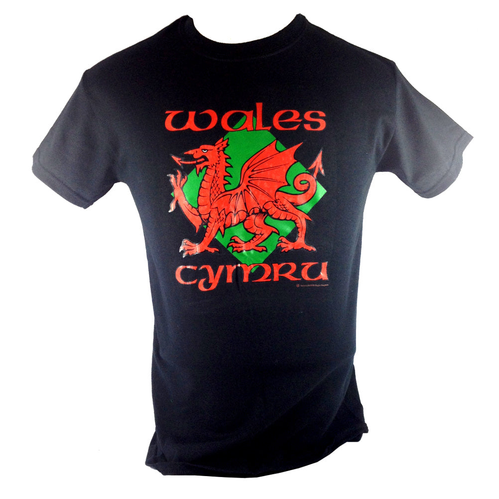 Wales Diamond Dragon Unisex T-Shirt [mk] [black]