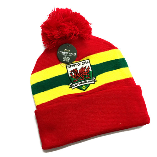 Wales Spirit of 2016 Football Bobble Hat [wa180]