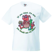 Welsh Dragon Cute Mum Childrens T-Shirt [g826]