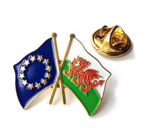 Wales / European Union Friendship Pin Badge [wb38]