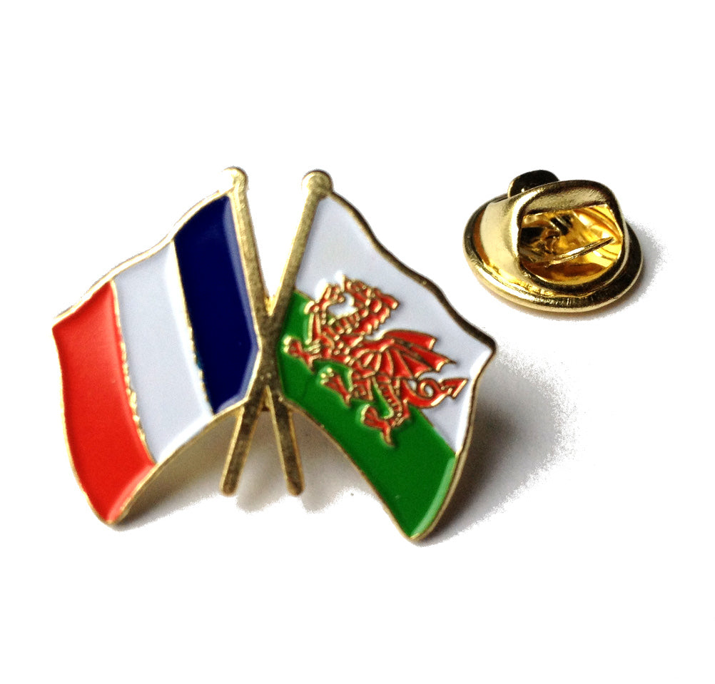 Wales / France Friendship Metal Lapel Pin Badge [wb65]