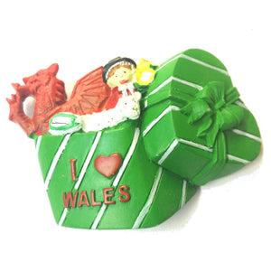 Wales Giftbox Fridge Magnet