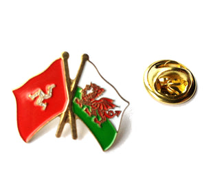 Wales / Isle of Man Friendship Pin Badge [wb200]