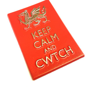 Wales Keep Calm and Cwtch PU Fridge Magnet [wm545]