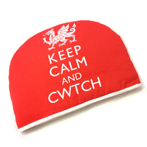 Wales Keep Calm & Cwtch Cotton Tea Cosy [wl130]