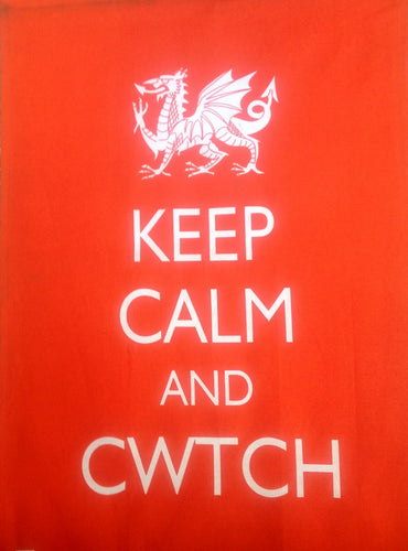 Keep Calm and Cwtch Wales Dialect Tea Towel [wt60]