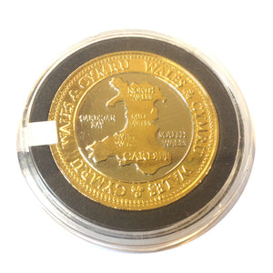 Wales Map Gilt Collector Coin [wn239]