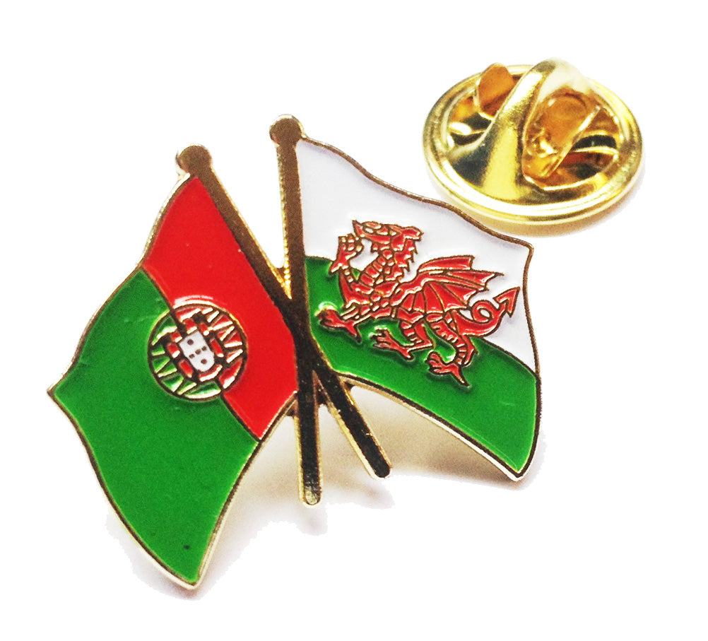 Wales / Portugal Friendship Pin Badge [wb135]