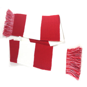 Wales Supporter Red & White Striped Scarf [wa105]