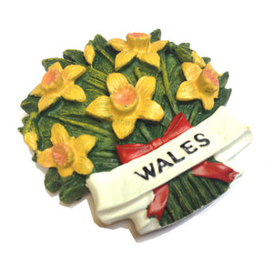 Welsh Daffodils Bunch Fridge Magnet [wm36]