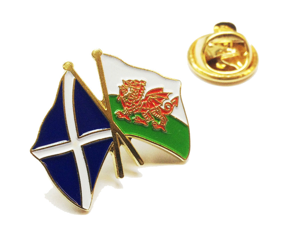 Wales / Scotland Friendship Pin Badge [wb37]