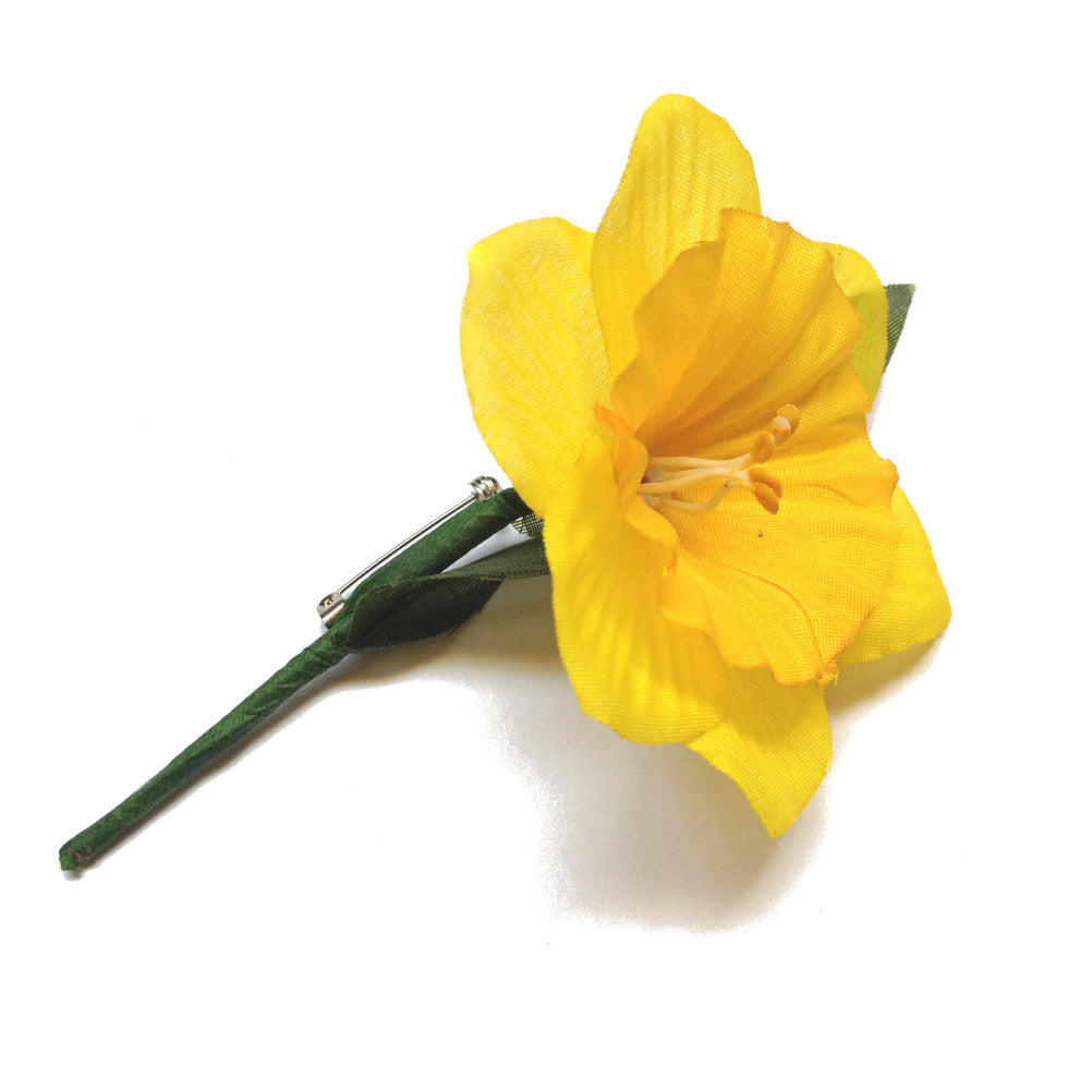 St Davids Day Polyester Daffodil Lapel Badge