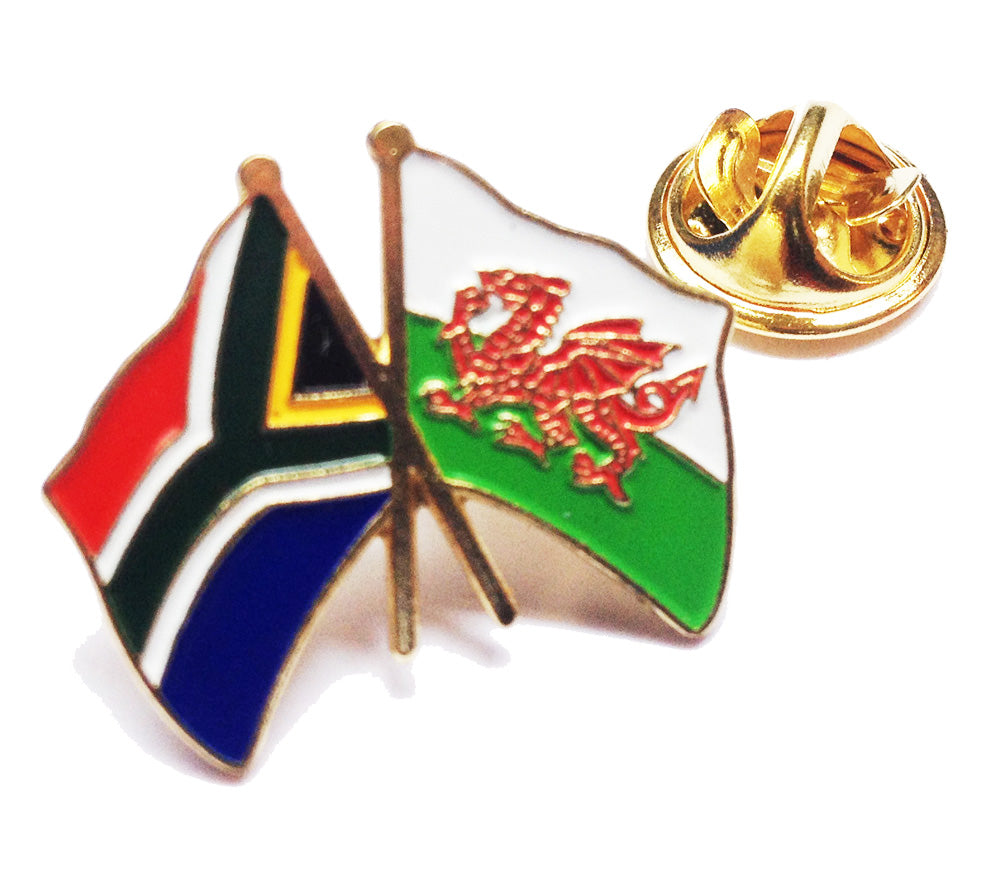 Wales / South Africa Friendship Pin Badge [wb43]