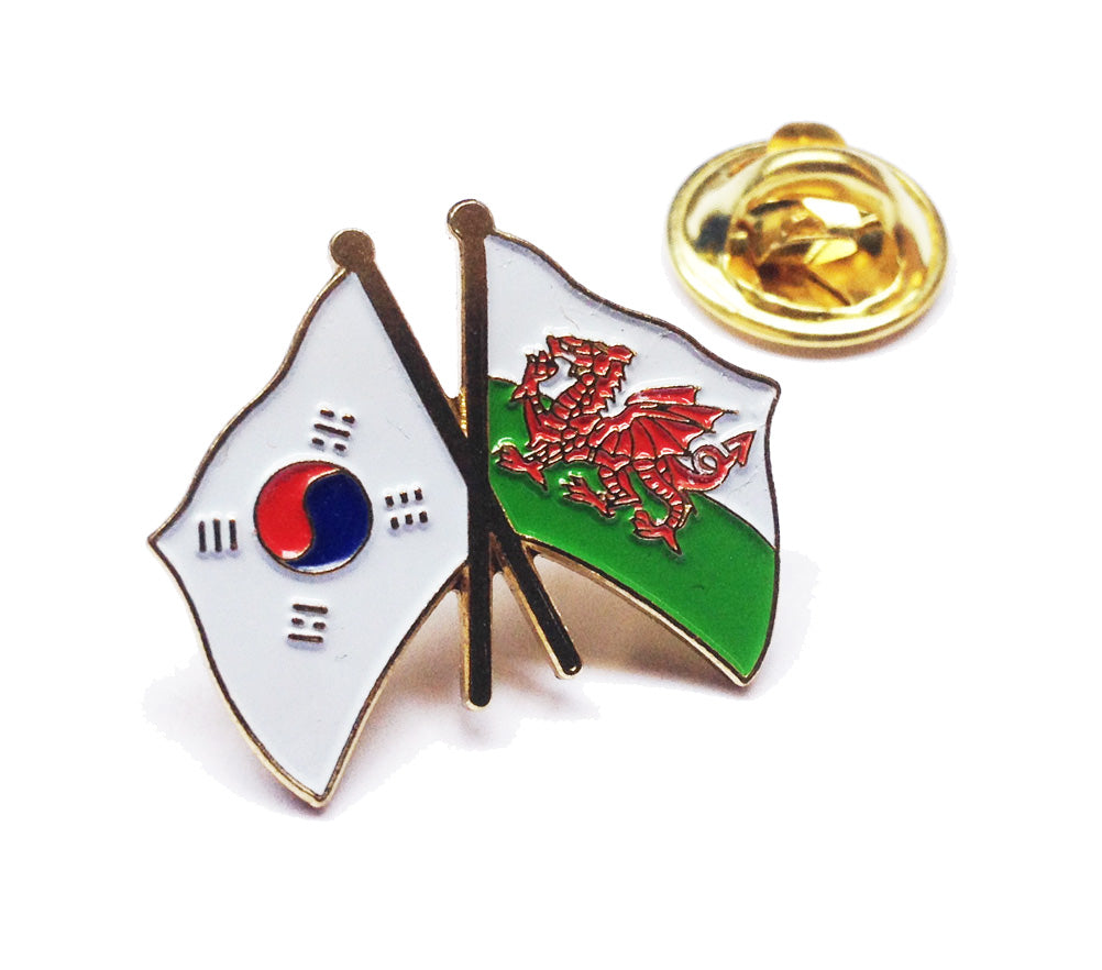 Wales / South Korea Friendship Pin Badge [wb121]