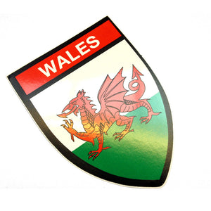 Welsh Flag Shield Sticker [wb--]