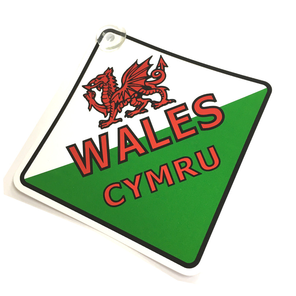 Wales Flag Suction Hanger [wb232]