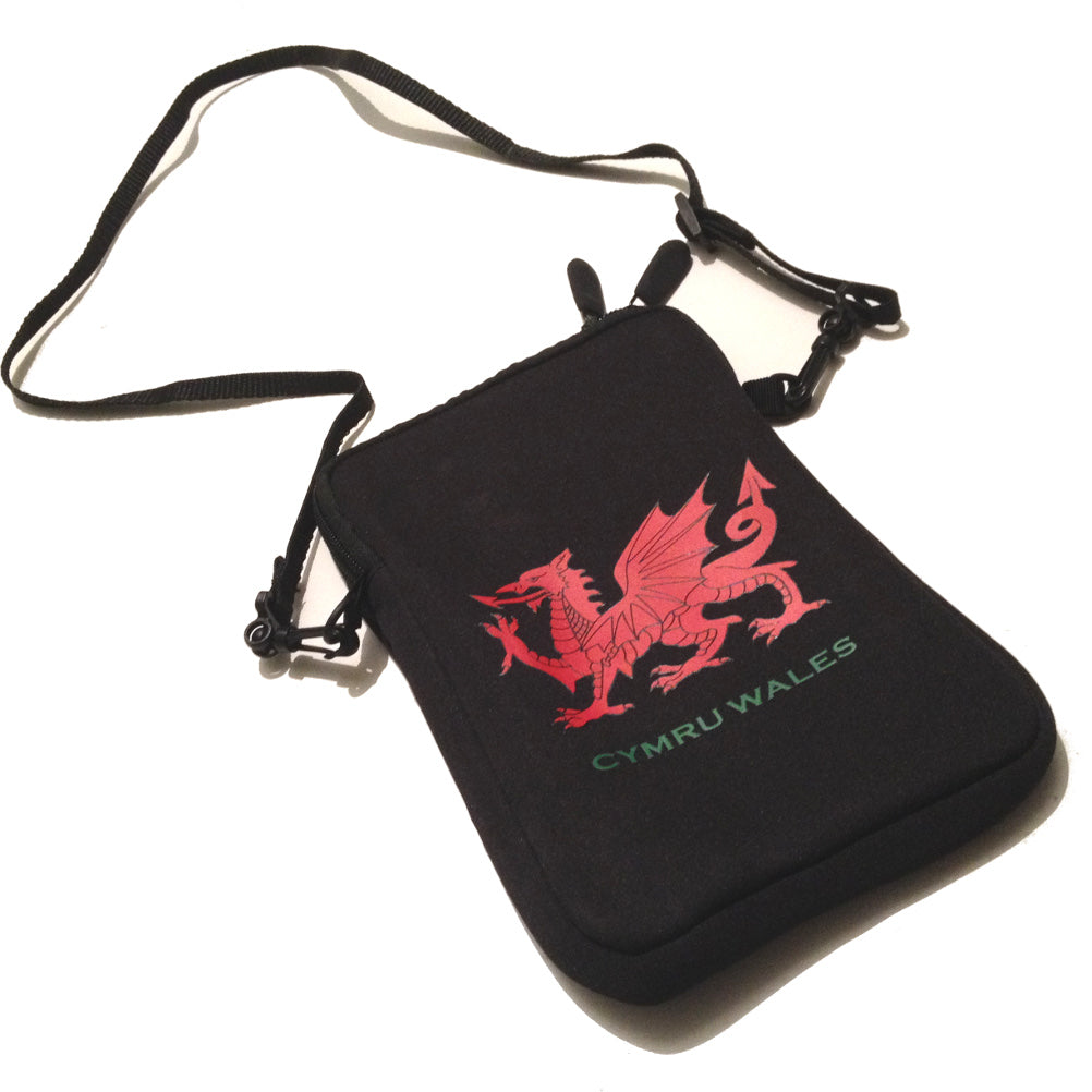 Welsh Dragon 8inch Mini-Tablet Size Neoprene Neck Purse/Bag [aj1514]