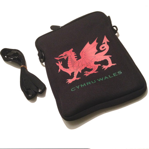 Welsh Dragon 10inch Tablet-Sized Neoprene Neck Purse/Bag [aj1515]