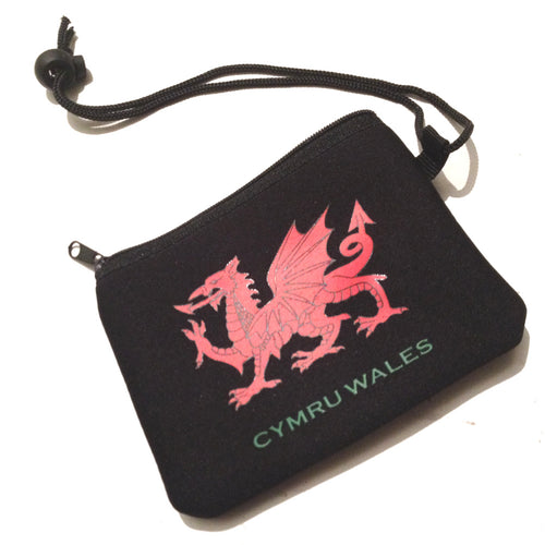 Corded Welsh Dragon Neoprene Purse [aj1513]