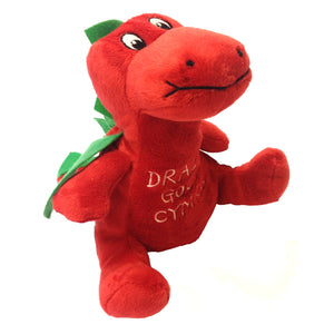 "Dragon's Tale Welsh Dragon Soft Toy [med sitting 6""]"