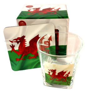 Welsh Flag Whisky Glass & Coaster Boxed Set