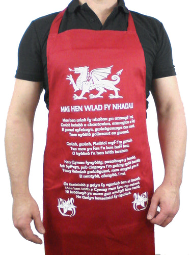 Welsh National Anthem Welsh Apron
