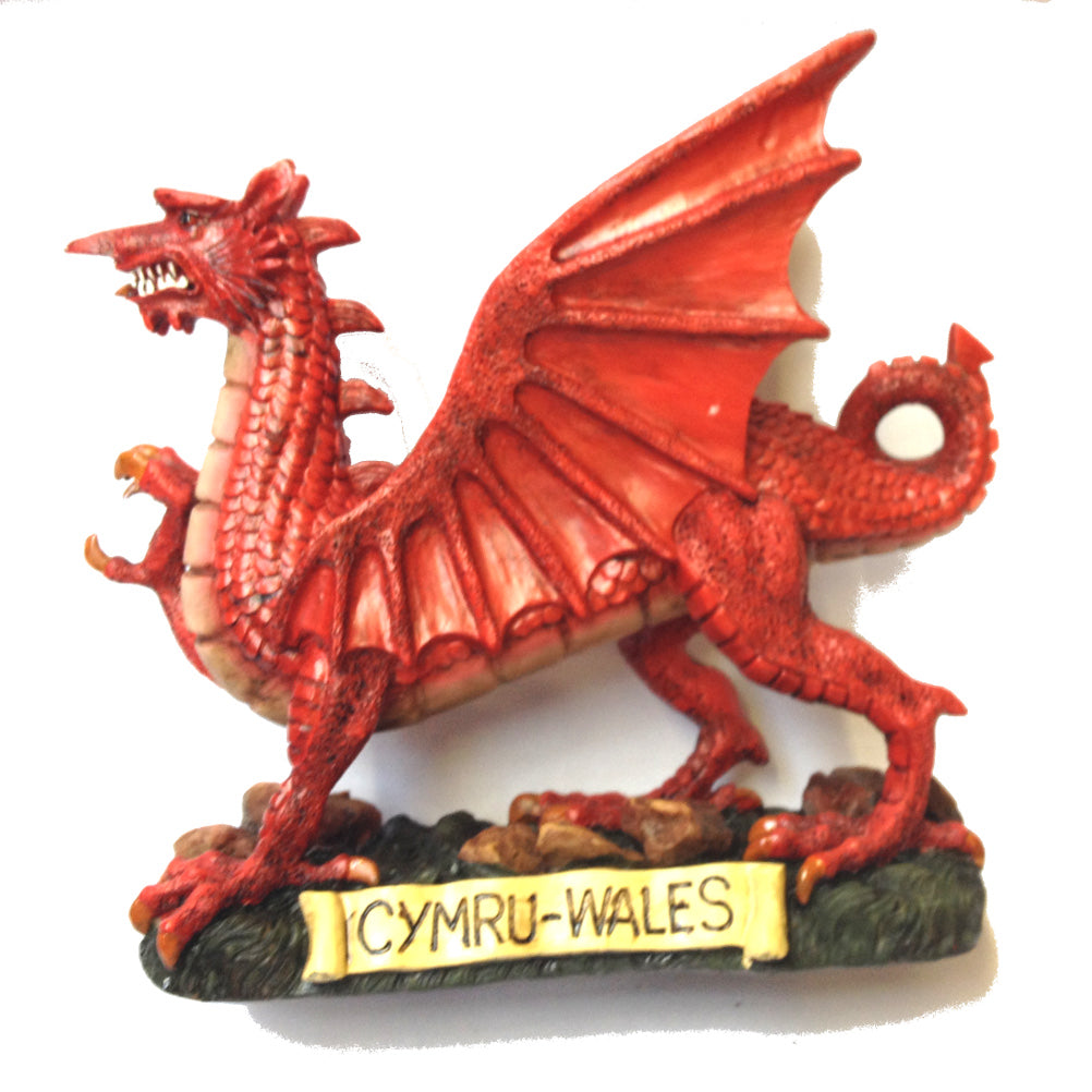 Traditional Welsh Dragon 12in Resin Figure [wg257]