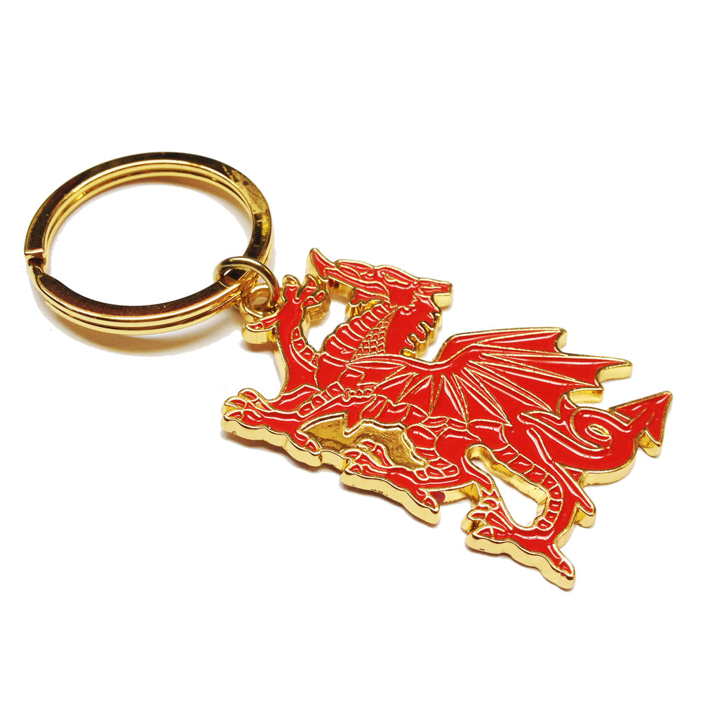 Wales Welsh Dragon Metal Keyring [wk14]