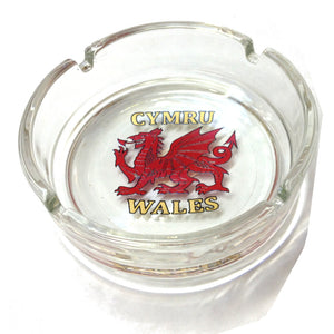 Wales Dragon Glass Ashtray [wh70]