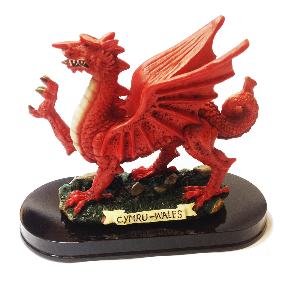 Wales Dragon 6in Wood Plinth Resin Figure [wg287]