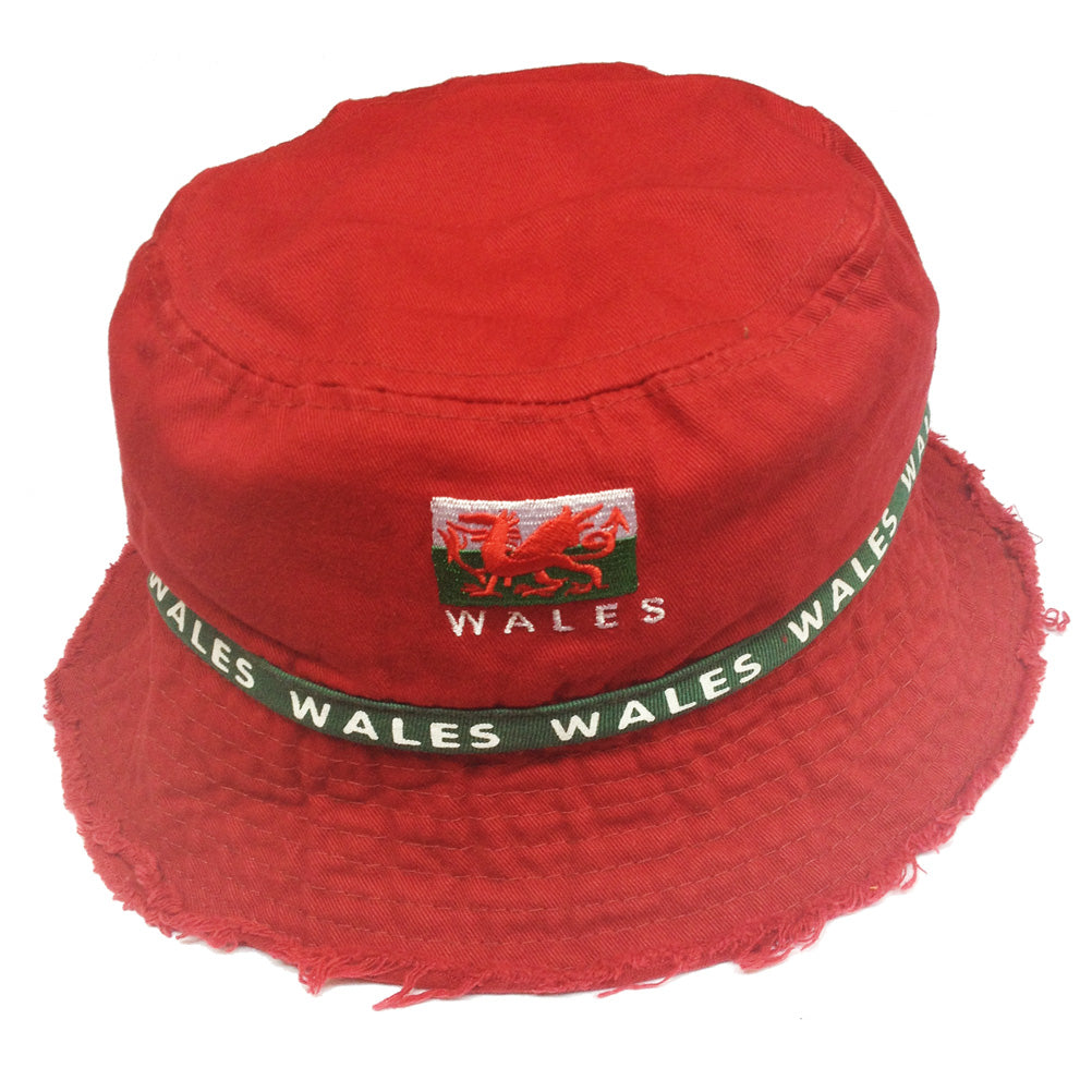 Wales Red Bush Beach Bucket Hat [wa93]