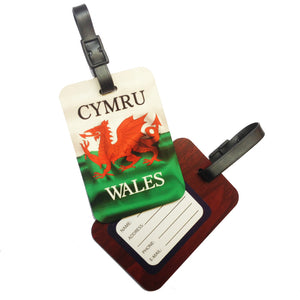 Wales Flag Laminated Board Luggage Tag [wx272]