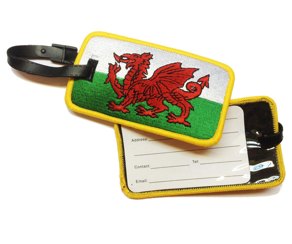 Welsh Flag Embroidered Luggage Tag [wx207]