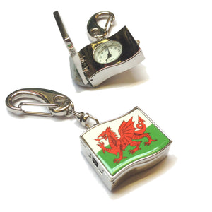 Welsh Flag Fob Watch Keyring [wk158]
