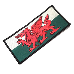 Wales Flag Large (15x7cm) Embroidered Patch [A051A]
