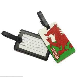 Wales Flag Moulded Flexi Luggage Tag [wx232]