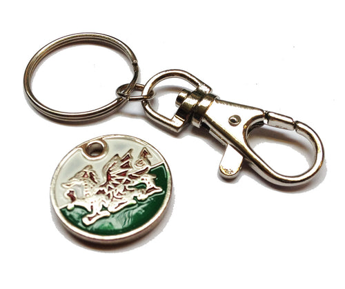 Welsh Flag Trolley Locker Token Keyring
