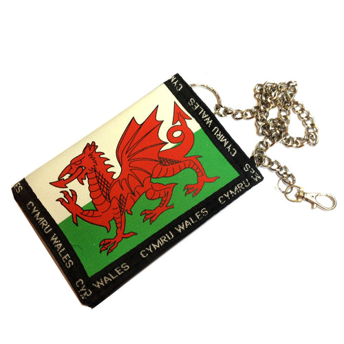 Welsh Flag Rip Wallet on Chain [wx135]