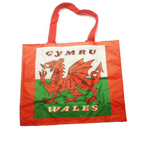 Welsh Flag Woven Poly Shopper Bag [WL117]