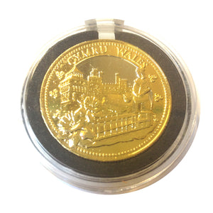 Wales Lady Scene Gilt Collector Coin [wn242]