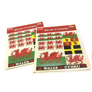 Wales Dragons & Flags 2 Sheet Sticker Pack [we185]