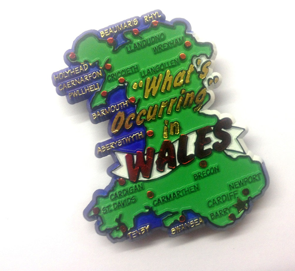 Wales Whats Occurring Moulded PU Fridge Magnet [wm318]