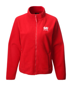 Ladies Red Wales Fleece Jacket