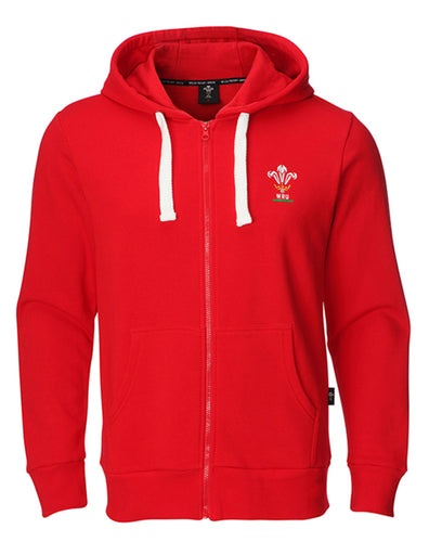 Mens Official WRU Welsh Rugby Full Zip Hoody