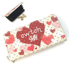 Wales Cwtch Heart Large Purse with Diamonte [wx307]