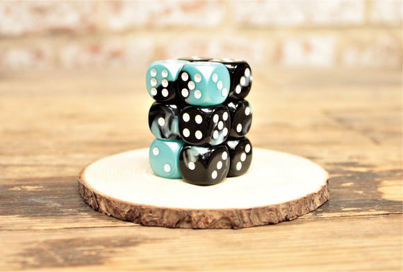 Chessex - Set of 12 D6 Dice Block - Gemini Black Shell From Fandomonium