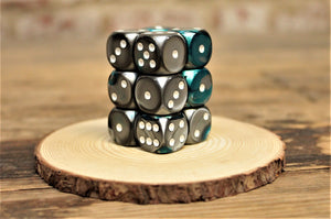 Chessex - Set of 12 D6 Dice Block - Gemini Steel Teal From Fandomonium