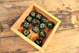Chessex Set Of 12 D6 Dice Block - Scarab Jade