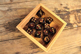 Chessex - Set of 12 D6 Dice Block - Scarab Blue Blood From Fandomonium